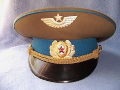 MINT Vintage Genuine Russian USSR General Military HAT soviet Union $30 with free shipping