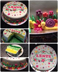 Spring cake with color inside