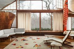 """unculturedmag: """"Midcentury George Nakashima Designs Revived by Edward Fields """"The Nakashima Collection,"""" six rugs and one tapestry referencing the natural shapes and colors that had became the iconic designer's code. Showcased in these spot-on..."""