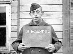 Dr. Rolf Rosenthal, the SS doctor at the Ravensbruck women's concentration camp, pictured after the camp's liberation. Nazis used the women's camp for heinous medical experiments including deliberately infecting prisoners with syphilis