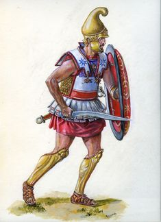 Macedonian officer of the detachment Zopyrion, siege of Olbia. Mycenaean, Minoan, Greek History, Ancient History, Ancient Rome, Ancient Greece, Greek Soldier, Punic Wars, Hellenistic Period