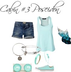 """Cabin #3 Poseidon"" by jaici ❤ liked on Polyvore"