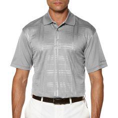 Ben Hogan Short Sleeve Embossed Plaid Polo #Golf #Fashion
