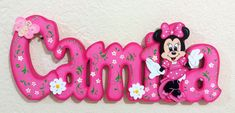 Nomes MDF CAMILA Minie Baby Shower Souvenirs, Christmas Frames, Name Banners, Decoration, Letters, Crafts, Handmade, Diy, Baby Art Crafts
