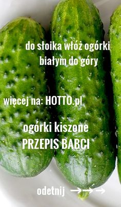 hotto.pl-ogorki-kiszone Polish Recipes, Polish Food, Fermented Foods, Holiday Desserts, Preserves, Pickles, Cucumber, Food And Drink, Yummy Food