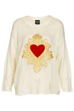 **Sacred Heart Jumper by Freak of Nature $104 #topshop