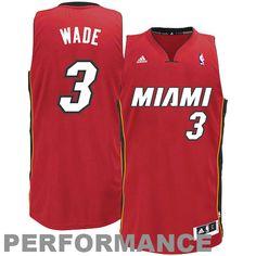 Dwyane Wade Miami Heat adidas Youth Swingman Alternate Jersey - Red - $56.99