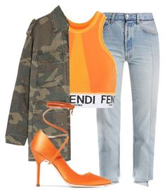 """""""Untitled #421"""" by mayacatecuffe on Polyvore featuring Vetements, Fendi and Yves Saint Laurent"""