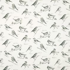 Garden Birds Curtain Fabric - - Terrys Fabrics UK