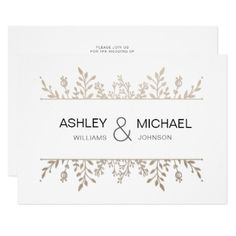 Elegant Delicate Rose Gold Chic Wedding Invitation - invitations personalize custom special event invitation idea style party card cards