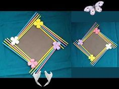 Kendi Kendinize Yapabileceğiniz 5 Deney DIY: Easy Photo Frame Tutorial! !!! (Birthday Gift Idea/ Room Decoration)Made With Color Paper!!! - YouTube<br> Diy Birthday, Birthday Gifts, Birthday Parties, Mini Albums Photo, Photo Frame Decoration, Paper Photo Frame Diy, Photo Frame Ideas, Picture Frame, Scrapbook Room Organization