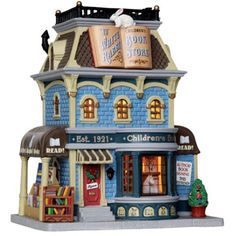 Lemax Caddington Village Lighted Building: White Rabbit Book Store #25388