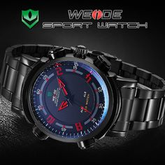 Find More Wristwatches Information about WEIDE military watch 30 meters waterproof Dual movements Date Day Alarm business style LED wristwatch for men 24 hour dispatch,High Quality Wristwatches from WEIDE Official Flagship Store on Aliexpress.com