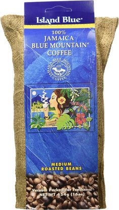 Island Blue 100% Jamaica Blue Mountain Whole Beans Coffee (16oz) -- You can get additional details at the image link.