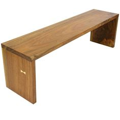 Sentient Walnut Hardwood Slab Bench with Maple Butterfly Detail 1