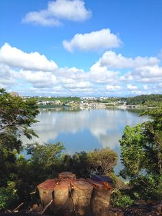 Sanaru Lake, Hamamatsu-city, Japan.   佐鳴湖に映った夏の雲  Summer clouds reflected in the Lake Sanaru