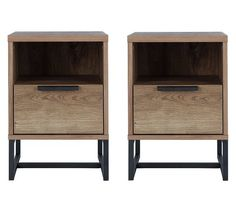 Buy Argos Home Nomad 2 Bedside Tables Set - Light Oak Effect at Argos. Thousands of products for same day delivery or fast store collection. Pair Of Bedside Tables, Modern Bedside Table, Bedside Chest, Bedside Cabinet, Bedroom Furniture Sets, Bedroom Ideas, Bedroom Inspiration, Light Oak, Argos