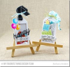 Tag Builder Blueprints 5 Die-namics, Celebrate With Cake Stamp Set and Die-namics, Beary Special Birthday Stamp Set and Die-namics, Happy Birthday Background, Happy Birthday Die-namics - Barbara Anders  #mftstamps