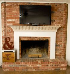 adding aLarge TV Over existing Fireplace | ... to decorate it we ll add a little molding around the bottom and call
