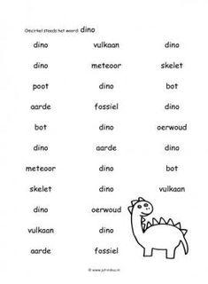 Dit taal werkblad en nog veel meer in het thema dinos kun je downloaden op de website van Juf Milou.