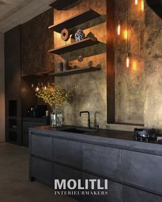 50 Ideas Kitchen Modern Brown Floors For 2019 Modern Kitchen Design, Interior Design Kitchen, Modern Interior Design, Black Kitchens, Cool Kitchens, Kitchen Dinning, Kitchen Fixtures, Cuisines Design, Style At Home