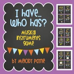 I Have…Who Has? Musical Instruments Game for elementary music students