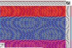 Half of the draft with one treadling option - echo weave by Sally Orgren