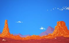 Pixel Desert by Charles Frumerie, via Behance