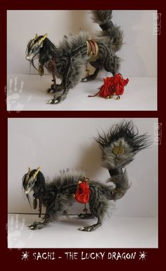 THIS GUY IS UP FOR BIDS HERE! :3 Pali is a ooak KIRIN (dragon-horse) art doll. he is 70cm long (27,5 inches) soft and fully poseable. c: his head and legs are made of polymer clay and he has a wire...