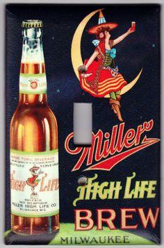 Vintage Miller High Life Beer / Miller Girl by SpottedDogStudios, $8.00