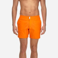 eec51261c009f Vilebrequin Men's Fitted Solid Short and Fitted Stretch Swimwear in Kumquat  Kumquat, Men's Swimwear,