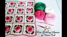 [Crochet Tutorial] Merajut Rose Granny Square by Natassia Craft