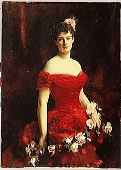John Singer Sargent The Vicomtesse de Saint-Perier Poilloüe 1883