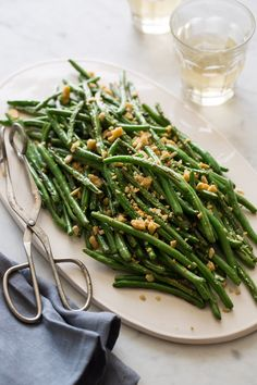 Lightly Roasted Green Beans | Side dish recipe | Spoon Fork Bacon