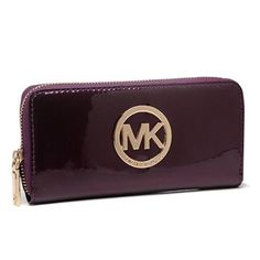 Michael Kors Jet Set Continental Smooth Large Purple 005 Wallets