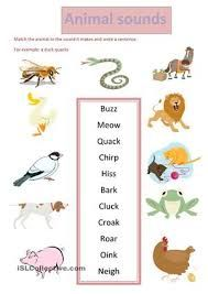 animal sounds worksheets animales weather pinterest worksheets. Black Bedroom Furniture Sets. Home Design Ideas