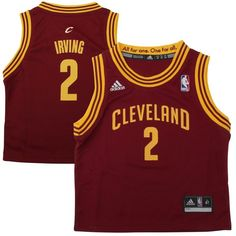 adidas Kyrie Irving Cleveland Cavaliers Toddler Replica Road Jersey - Garnet