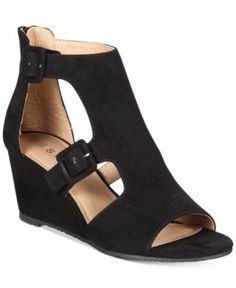 Espirit Angel Wedge Sandals  - Black 6.5M