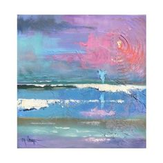 """Abstract, Mixed Media, Acrylic, """"Message from the Keys original... ❤ liked on Polyvore"""