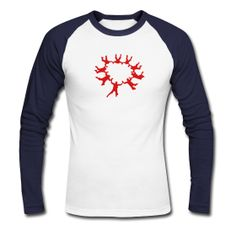 Men's Baseball T-Shirt Classic baseball long sleeve raglan t-shirt for men, 100% cotton, Brand: Canvas  / Skydiving Shirt / Graphic | Design | Graphic T-Shirt | Graphic Products | Screen Print | Creative / Buy it now!