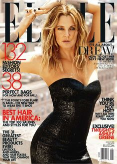 Drew Barrymore for Elle US August 2010 by Carter Smith (hair and make-up)