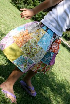 CENTRAL PARK Patchwork Twirl Skirt by lylabugcreations
