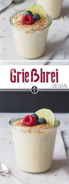 Klassischer #Griessbrei ohne Ei! #vegan