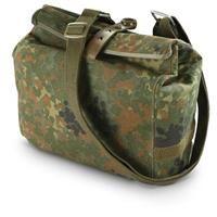 German Military Surplus Flecktarn Waterproof Shoulder Bag, New: German Military Surplus Flecktarn Waterproof Shoulder Bag, New