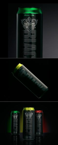 Such bold packaging for Smirnoff ICE Black - the next generation.