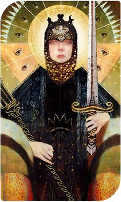 So, Cassandra swooped in and became my new divine. I was sort of annoyed due to it being my complentionist Lavellan who was shooting for Leliana but the more I think about it... I'm starting to love the idea of Cass as Divine. Plus, this kick ass tarot card!