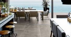Mystone ardesia - Stone Effect - Indoor and Outdoor Outdoor Spaces, Indoor Outdoor, Outdoor Decor, Stone Look Tile, Slate, Modern, Outdoor Furniture Sets, Dining Table, Colours