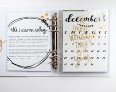 December Daily 2015 Foundation Pages - Part 1 + Free Calendar Printable Christmas Mini Albums, Christmas Journal, December Daily, Free Calendar, Calendar Printable, Diy Crafts For Girls, Project Life Album, Daily Journal, Junk Journal