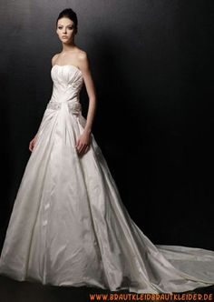 Designes Brautkleid mit Kristall A-Linie 2012