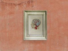 Brain Anatomy. Anatomical Embroidered Home Decor. Veins and Arteries of the Head. Embroidered Wall Art. Thread Wall Art. Science Art. Grey on Etsy, $50.00